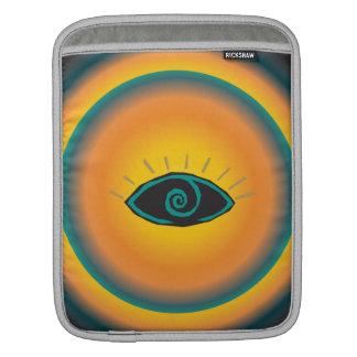 Ancient Seeing Eye Tribal Design Blue Orange Sleeve For iPads