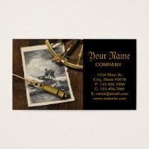 Ancient ship navigation tools nautical business card