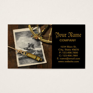 Ancient ship navigation tools nautical business card