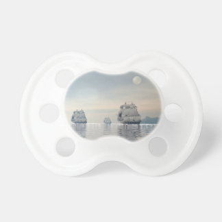 Ancient ships on the ocean pacifier