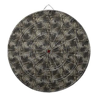 Ancient Silver Celtic Spiral Knots Pattern Dartboard