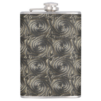 Ancient Silver Celtic Spiral Knots Pattern Flask