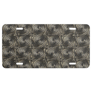 Ancient Silver Celtic Spiral Knots Pattern License Plate