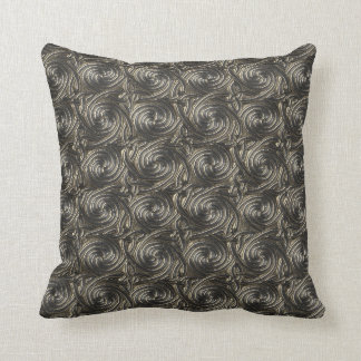 Ancient Silver Celtic Spiral Knots Pattern Pillows
