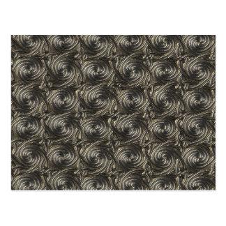 Ancient Silver Celtic Spiral Knots Pattern Postcard