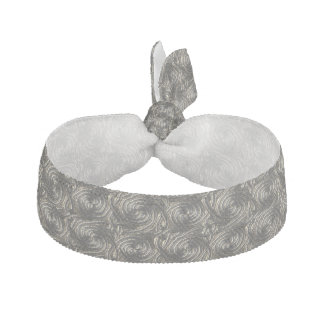 Ancient Silver Celtic Spiral Knots Pattern Elastic Hair Tie