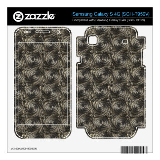 Ancient Silver Celtic Spiral Knots Pattern Samsung Galaxy S 4G Decal