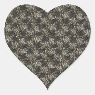 Ancient Silver Celtic Spiral Knots Pattern Heart Sticker