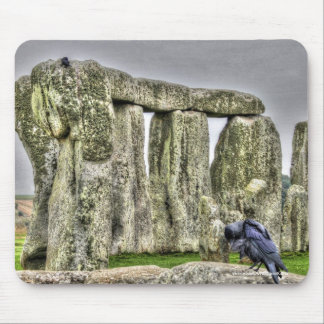 Ancient Site of Stonehenge & Preening Crow Mouse Pad