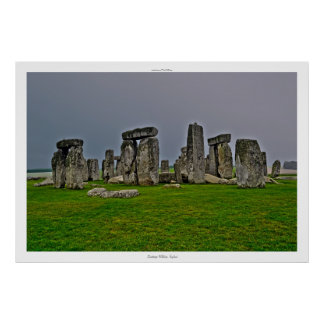Ancient Site of Stonehenge Standing Stones England Poster