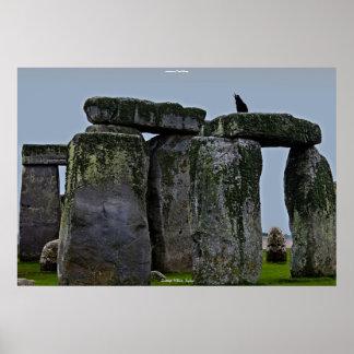 Ancient Site of Stonehenge Standing Stones & Rook Print