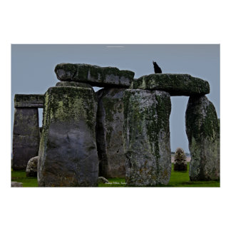Ancient Site of Stonehenge Standing Stones & Rook Poster