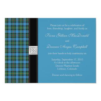 Ancient Smith Tartan Wedding Invitation