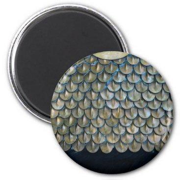Ancient soldier metal armor texture hauberk patter magnet