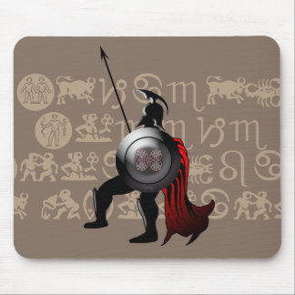 Ancient Spartan Warrior Mouse Pad