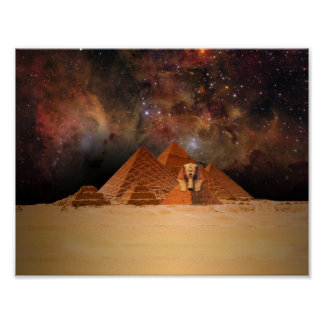 Ancient Sphynx in Space Poster