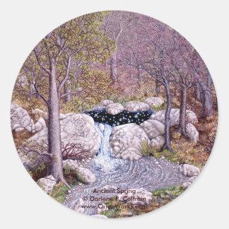 Ancient Spring, Ancient Spring Darlene P. Colt... Classic Round Sticker