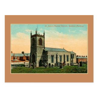 Ancient St. John's Parish Church Seaham harbour Postcard
