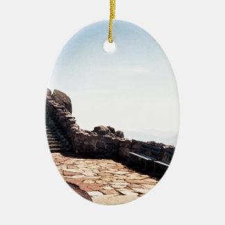 Ancient Stair Case Ceramic Ornament