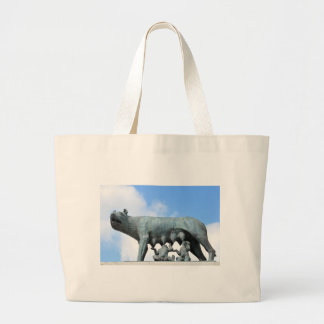 Ancient statue large tote bag