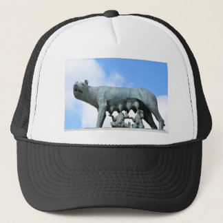Ancient statue trucker hat