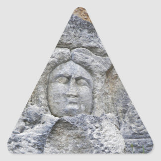 Ancient Stone Carving Triangle Sticker