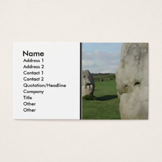 Ancient Stone Circle. Avebury, Wiltshire, England. Business Card