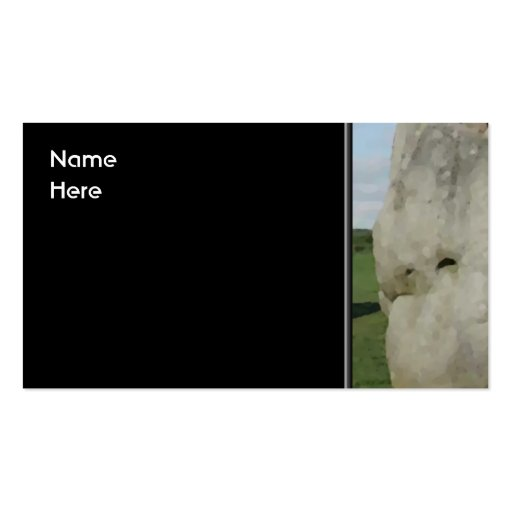 Ancient Stone Circle. Avebury, Wiltshire, England. Double-Sided Standard Business Cards (Pack Of 100)