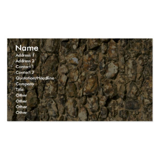 Ancient stone wall business card templates