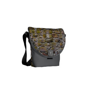 Ancient stone wall courier bag