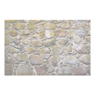 Ancient stone wall stationery
