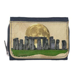 Ancient Stonehenge & Moon on Faux Parchment Wallet
