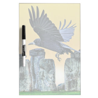 Ancient Stonehenge & Rook Corvid-lover's Gift Dry-Erase Board