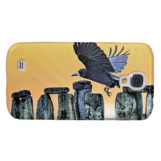 Ancient Stonehenge & Rook Corvid-lover's Gift Galaxy S4 Cover