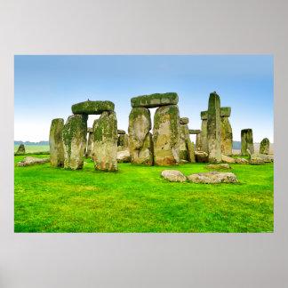 Ancient Stonehenge Standing Stones in Summer Art Poster