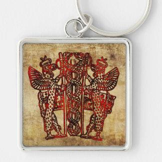 Ancient Sumerian Caduceus Keychain