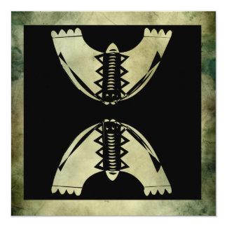 ancient symbol square greetings 5.25x5.25 square paper invitation card