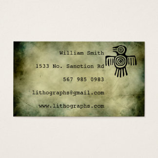 ancient symbols lithograph business card