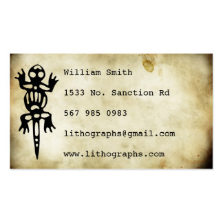 ancient symbols lithograph Double-Sided standard business cards (Pack of 100)