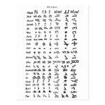 Ancient Syria Alphabet Postcard