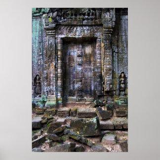 Ancient Temple Blind Door Print