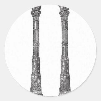 Ancient temple columns design sticker