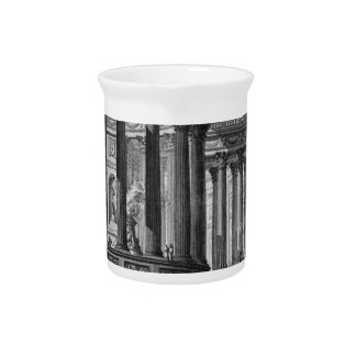 Ancient temple invented and designed in the manner beverage pitchers