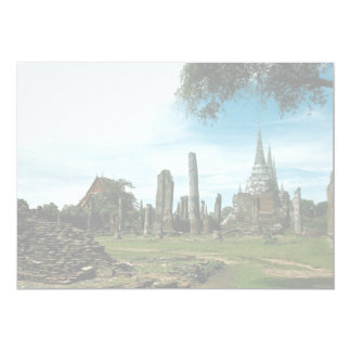 "Ancient temple ruins, near Bangkok, Thailand 5"" X 7"" Invitation Card"