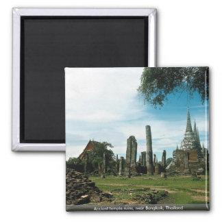 Ancient temple ruins, near Bangkok, Thailand Magnet