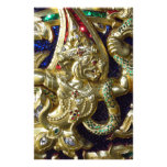 ANCIENT THAILAND METALLIC MURAL CUSTOMIZED STATIONERY