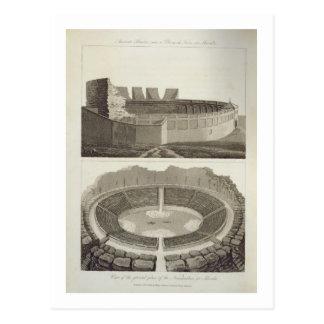 Ancient Theatre, now a Plaza de Toros, and a View Postcard
