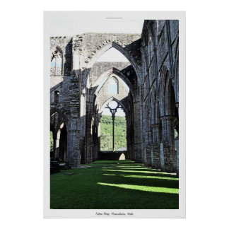 Ancient Tintern Abbey I Cistercian Monastery Wales Poster