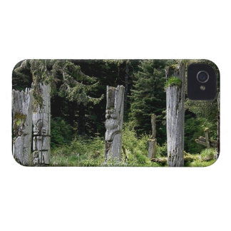 Ancient Totem Site Haida Gwaii iphone5 iPhone 4 Case-Mate Cases