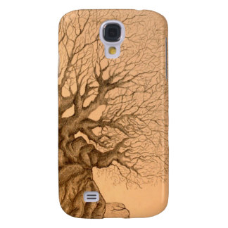 Ancient Tree Drawing Samsung Galaxy S4 Cover